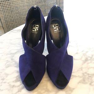 Barneys Co-op Purple Blue Suede Pump Sandals